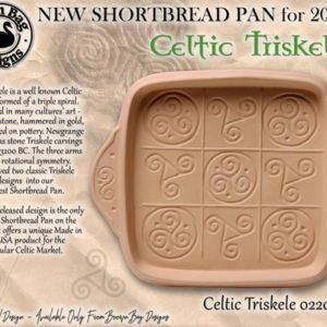 New - Celtic Triskele Shortbread Pan
