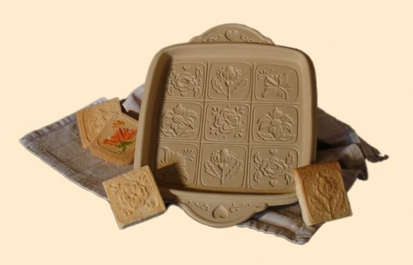 Alpine Flowers Shortbread Pan
